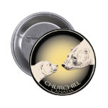 Churchill Souvenirs Polar Bear Art Shirts & Gifts 2 Inch Round Button