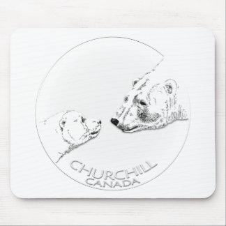 Churchill Souvenirs Polar Bear Art Shirts & Gifts Mouse Pad