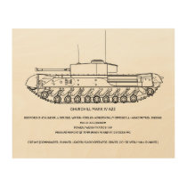 Churchill Tank MkIV Wood Print