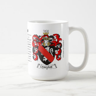 Churchill, the Origin, the Meaning and the Crest Classic White Coffee Mug