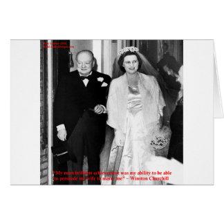 Churchill y cita famosa de la boda tarjeta de felicitación