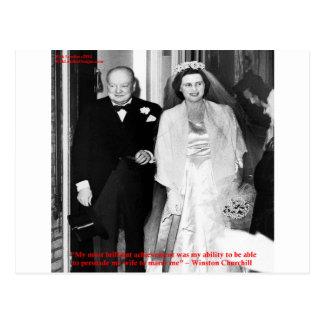 Churchill y cita famosa de la boda postal