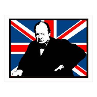 Churchill y Union Jack Postales