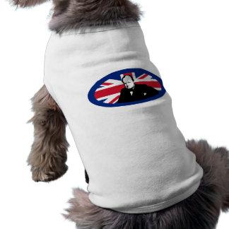Churchill y Union Jack redondo Camiseta De Perrito