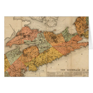 Church's mineral map of Nova Scotia Greeting Card