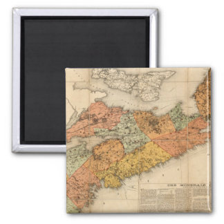 Church's mineral map of Nova Scotia Magnet