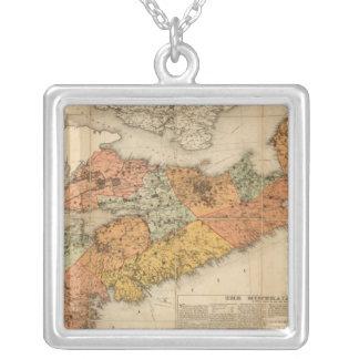 Church's mineral map of Nova Scotia Square Pendant Necklace