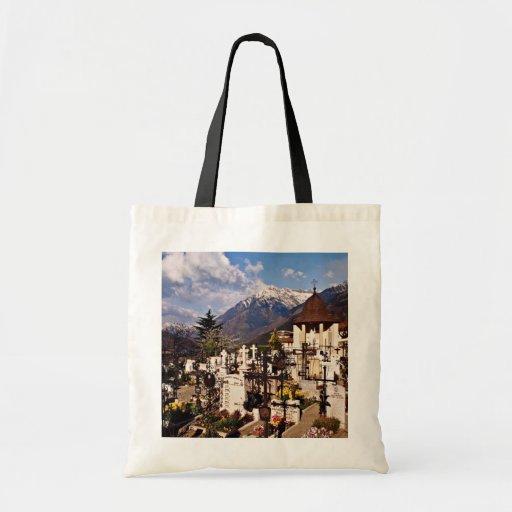 Churchyard, Dorf Tirol, (Tirolo), Alto Adige, Ital Canvas Bag