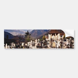 Churchyard Dorf Tirol Tirolo Alto Adige Ital Bumper Sticker