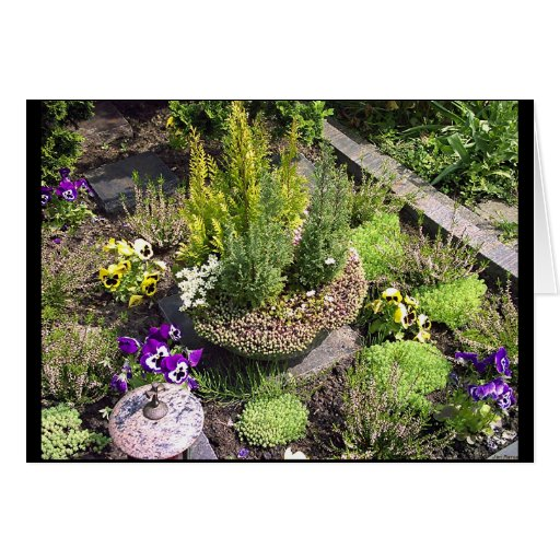 Churchyard Flowerbed 1 Greeting Card