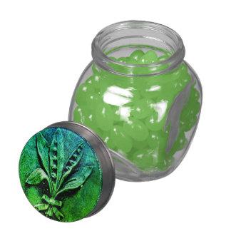 Churchyard Lilies Glass Candy Jar