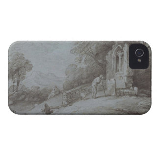 Churchyard with Figure Contemplating Tombstone (et iPhone 4 Case-Mate Case