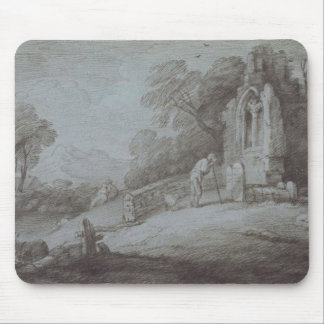 Churchyard with Figure Contemplating Tombstone (et Mouse Pad