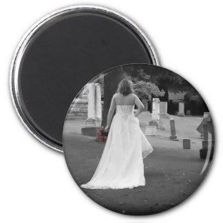 ChurchyardBackViewR091810BW 2 Inch Round Magnet