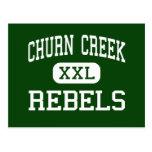Churn Creek - Rebels - High - Redding California Postcards
