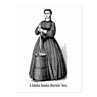 Churnin' Love (black text for light shirts) Postcard