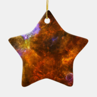 Churning Out Stars Ceramic Ornament