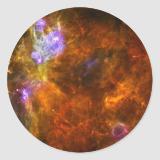 Churning Out Stars Classic Round Sticker