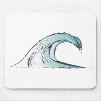 Churning Wave Design Mouse Pad