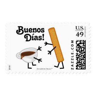 ¡Churro y chocolate - Buenos Dias! Estampillas