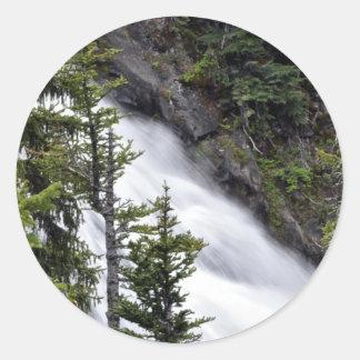 Chush Falls Classic Round Sticker