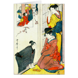 Chushingura Act Two 1801 Greeting Card