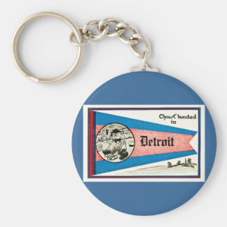 Chust aterrizó en Detroit - vintage Llavero Redondo Tipo Pin