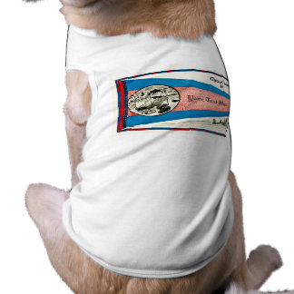 Chust Landed in... Customizable Text Pet T Shirt