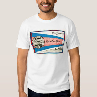 Chust Landed in... Customizable Text T Shirt