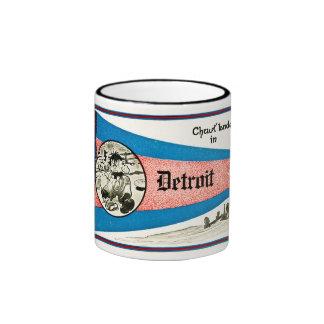 Chust Landed in Detroit - Vintage Ringer Coffee Mug