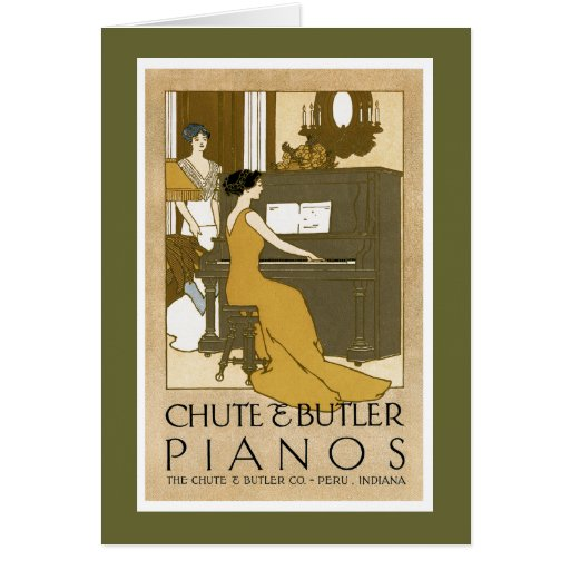 Chute and Butler Pianos Card