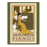 Chute and Butler Pianos Postcard