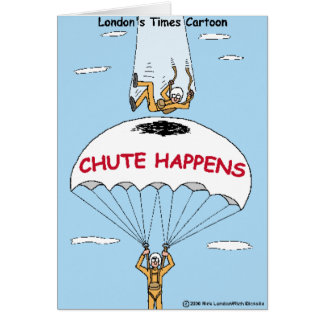 Chute Happens Funny Gifts & Collectibles Card