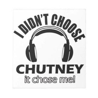 chutney designs notepad
