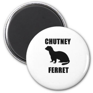 Chutney Ferret 2 Inch Round Magnet