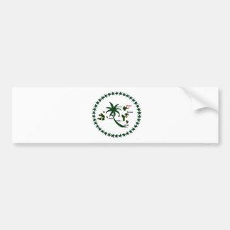 Chuuk Flag Bumper Sticker