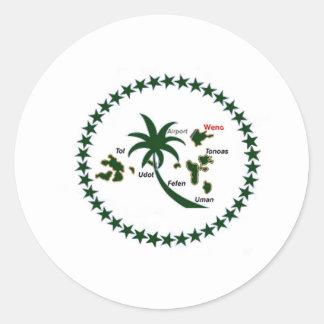 Chuuk Flag Classic Round Sticker