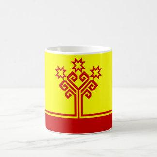 Chuvashia flag russia country republic region coffee mug