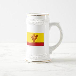 Chuvashia señala la taza por medio de una bandera