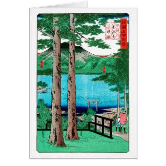 Chuzenji Lake Hiroshige Japanese Fine Art Card