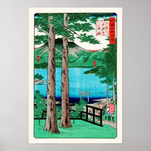Chuzenji Lake Hiroshige Japanese Fine Art Poster