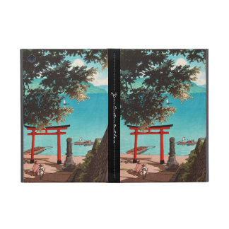 Chuzenji Temple at Utagahama Beach Hasui Kawase Cover For iPad Mini