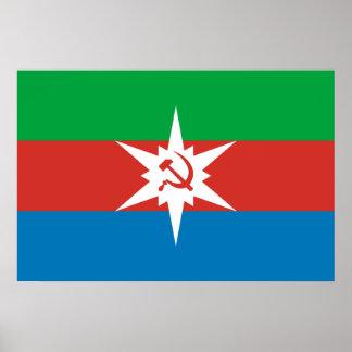 Chyermoz (Perm Krai), Russia flag Print