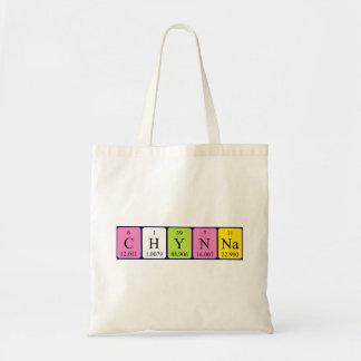 Chynna periodic table name tote bag