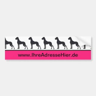 CI for Doggenzüchter Bumper Sticker