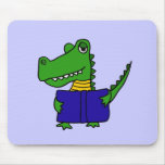 CI- Funny Alligator Reading a Book Mouse Pad