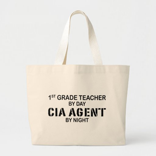 CIA AGENT BY NIGHT - 1ST GRADE JUMBO TOTE BAG