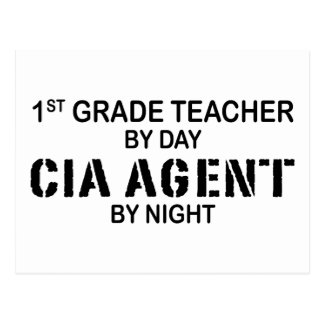 CIA AGENT BY NIGHT - 1ST GRADE POSTCARD