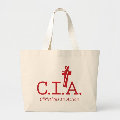 CIA Agents to the Lord Christians In Action Canvas Bags