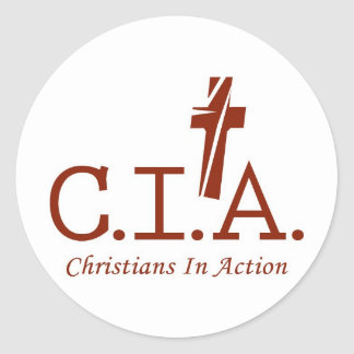 CIA Agents to the Lord Christians In Action Classic Round Sticker